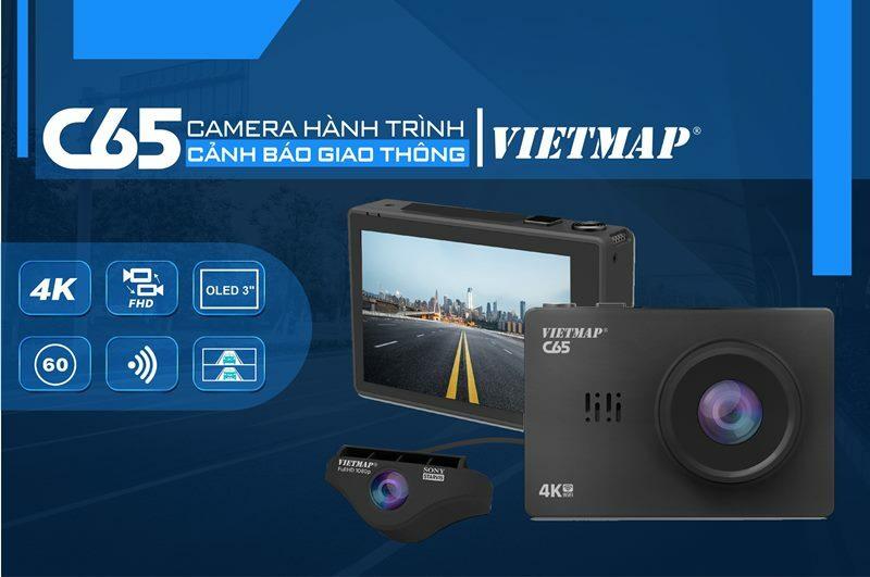Camera hành trình vietmap tích hợp camera lùi C65