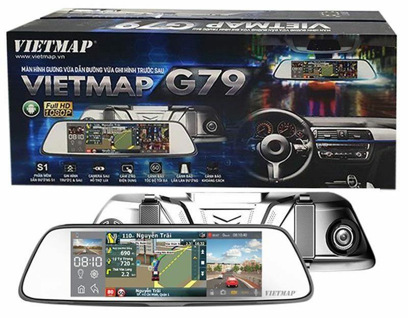 Camera hành trình gương hỗ trợ camera lùi Vietmap G79