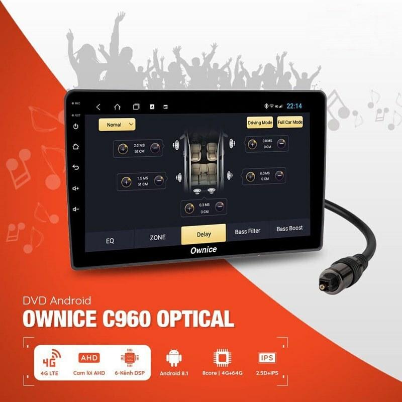 Màn hình Android cho dòng xe Santafe Ownice C960 Optical NEW