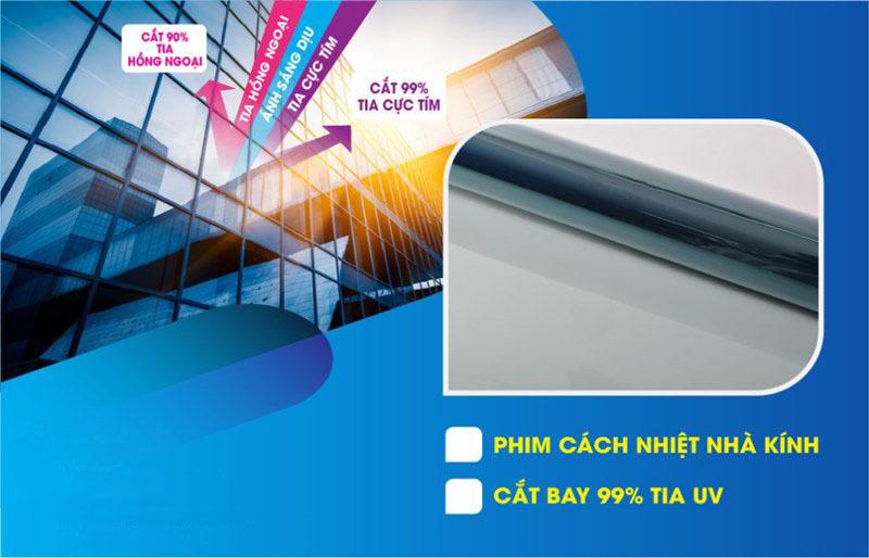 Dán phim cách nhiệt nhà kính chống nóng chống tia UV